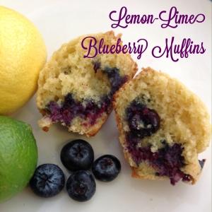 Lemon Lime Blueberry Muffins