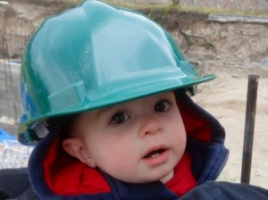 Josiah in Construction Helmet
