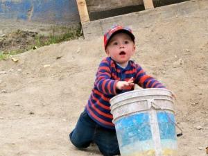 Eli in the dirt